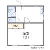 1DK Apartment to Rent in Chiba-shi Wakaba-ku Floorplan