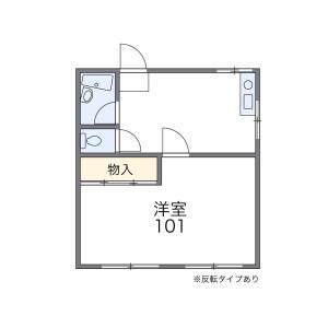 1DK Apartment in Nishitsuga - Chiba-shi Wakaba-ku Floorplan