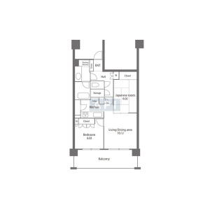 2LDK {building type} in Tokumaru - Itabashi-ku Floorplan