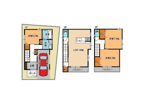 3LDK House to Buy in Osaka-shi Higashiyodogawa-ku Floorplan
