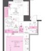 在千代田区内租赁1LDK 公寓大厦 的 楼层布局