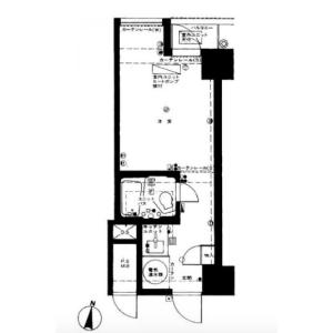 1R {building type} in Yotsuya - Shinjuku-ku Floorplan