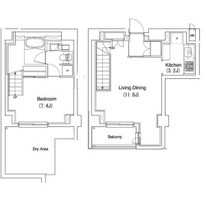 1LDK Mansion in Kamitakada - Nakano-ku Floorplan
