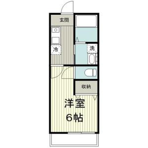 1K Apartment in Asahicho - Atsugi-shi Floorplan