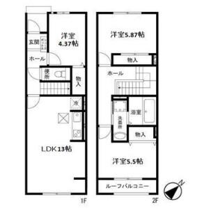 3LDK Terrace house in Horai - Saitama-shi Nishi-ku Floorplan