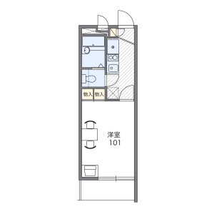 1K Mansion in Hino - Yokohama-shi Konan-ku Floorplan