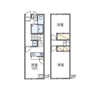 2DK Apartment in Todoroki - Setagaya-ku Floorplan