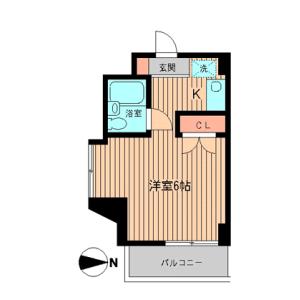 港区白金-1R公寓大厦 楼层布局