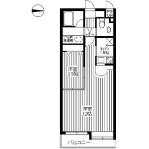 杉並區高円寺南-1LDK公寓大廈 房間格局