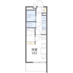 板橋區蓮根-1K公寓大廈 房間格局
