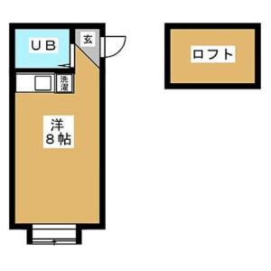 1R Apartment in Namamugi - Yokohama-shi Tsurumi-ku Floorplan