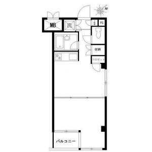 1DK Mansion in Gohongi - Meguro-ku Floorplan