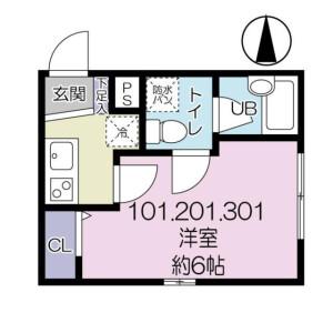 1K Apartment in Umejima - Adachi-ku Floorplan