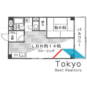 新宿区 西新宿 1LDK マンション 間取り