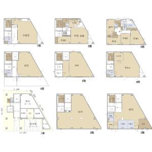 Whole Building {building type} in Tomihisacho - Shinjuku-ku Floorplan