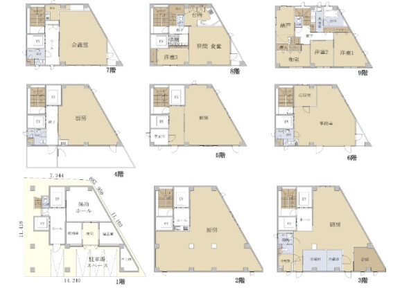 Whole Building Office to Buy in Shinjuku-ku Floorplan