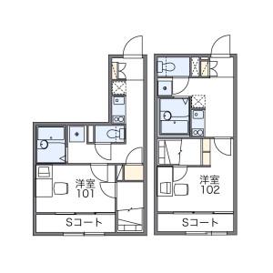 札幌市中央区 南十二条西 1K アパート 間取り