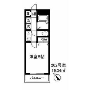 1K Mansion in Gohongi - Meguro-ku Floorplan