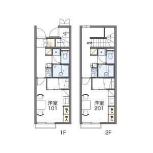 1K Apartment in Ukima - Kita-ku Floorplan