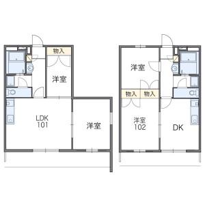 2DK Mansion in Fujisatocho - Nagoya-shi Meito-ku Floorplan