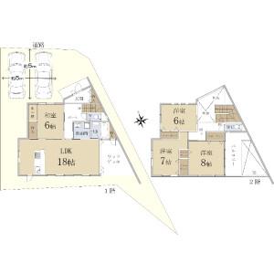 4LDK {building type} in Shugakuin inuzukacho - Kyoto-shi Sakyo-ku Floorplan