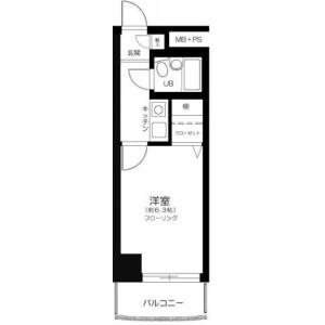 1R Mansion in Minamikugahara - Ota-ku Floorplan