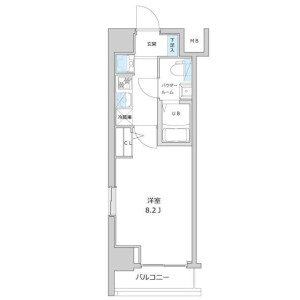 1K Apartment in Shirokanedai - Minato-ku Floorplan