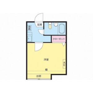 1K Apartment in Kamimeguro - Meguro-ku Floorplan