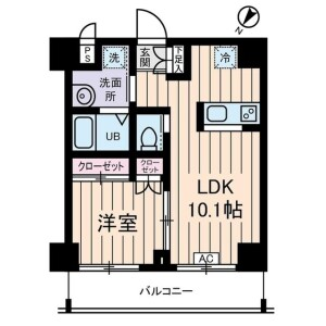 1LDK Mansion in Oyama nishicho - Itabashi-ku Floorplan
