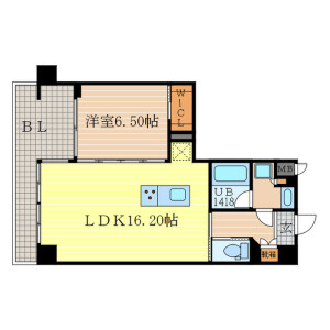 1LDK Mansion in Nakanocho - Kyoto-shi Higashiyama-ku Floorplan