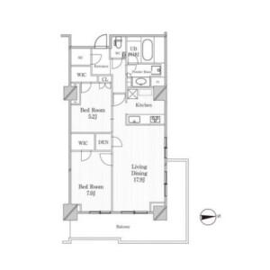 涩谷区恵比寿西-2LDK公寓大厦 楼层布局