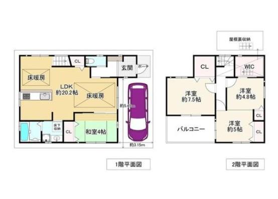 4LDK House to Buy in Osaka-shi Nishinari-ku Floorplan