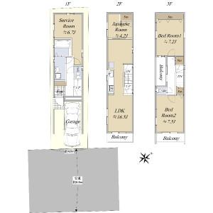 4SLDK {building type} in Minamikase - Kawasaki-shi Saiwai-ku Floorplan