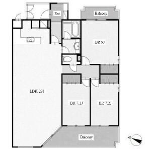名古屋市瑞穂區春山町-3LDK公寓 房間格局