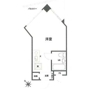 1R {building type} in Mameguchidai - Yokohama-shi Naka-ku Floorplan