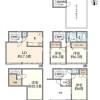 在港区购买4LDK 独栋住宅的 楼层布局