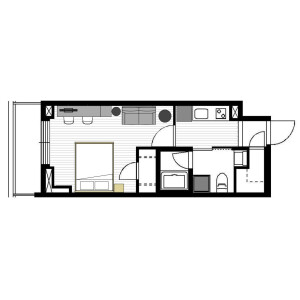 Roppongi Grand - Serviced Apartment, Minato-ku Floorplan
