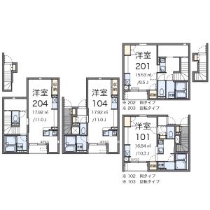 1R Apartment in Oizumigakuencho - Nerima-ku Floorplan