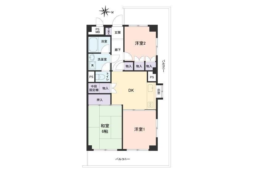 3DK Apartment to Buy in Adachi-ku Floorplan