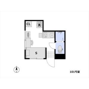 1R Apartment in Hyakunincho - Shinjuku-ku Floorplan