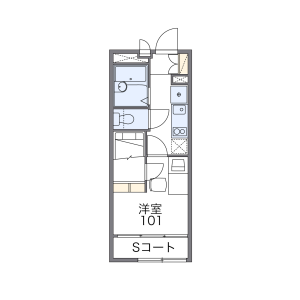 国分寺市南町-1K公寓 楼层布局