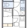 在国分寺市内租赁1K 公寓 的 楼层布局