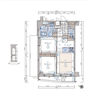 2LDK {building type} in Meguro - Meguro-ku Floorplan