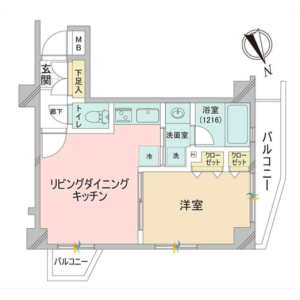 1LDK {building type} in Nishihara - Shibuya-ku Floorplan