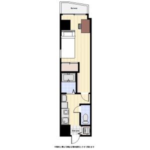 千代田區神田東紺屋町-1K公寓大廈 房間格局