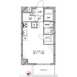 1R Apartment in Funabashi - Setagaya-ku Floorplan