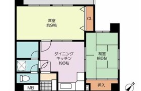 2DK {building type} in Hiemachi - Fukuoka-shi Hakata-ku