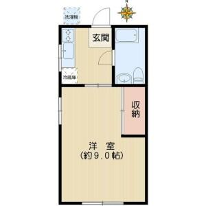 1K Apartment in Hakusan(1-chome) - Bunkyo-ku Floorplan