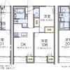 在座間市内租赁1K 公寓 的 楼层布局