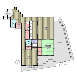 2LDK Mansion in Sakurayama - Zushi-shi Floorplan